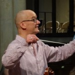 Bob rehearsing the Burford Singers